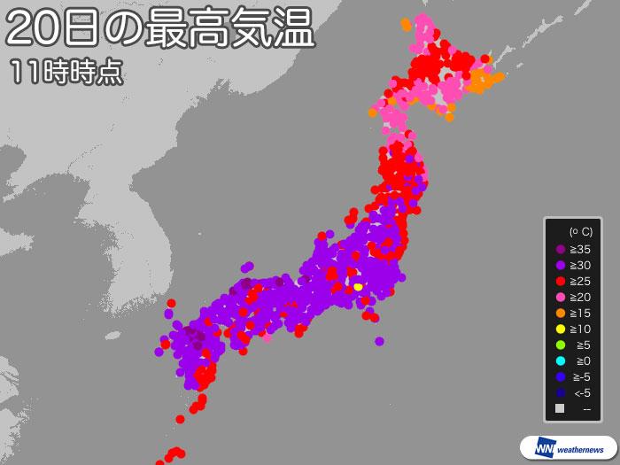 日本海側でフェーン現象発生 福...