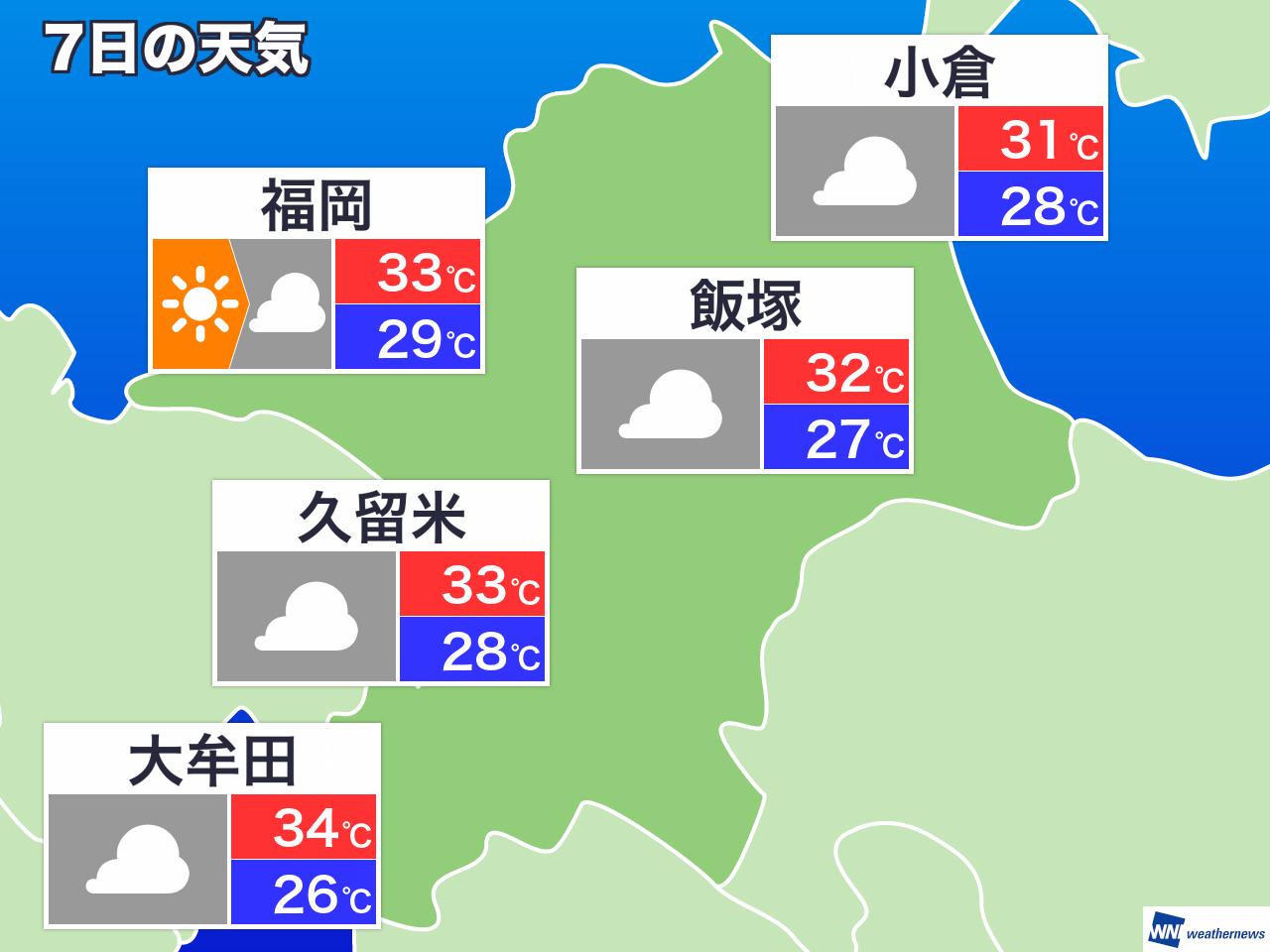 今日 の 天気 久留米