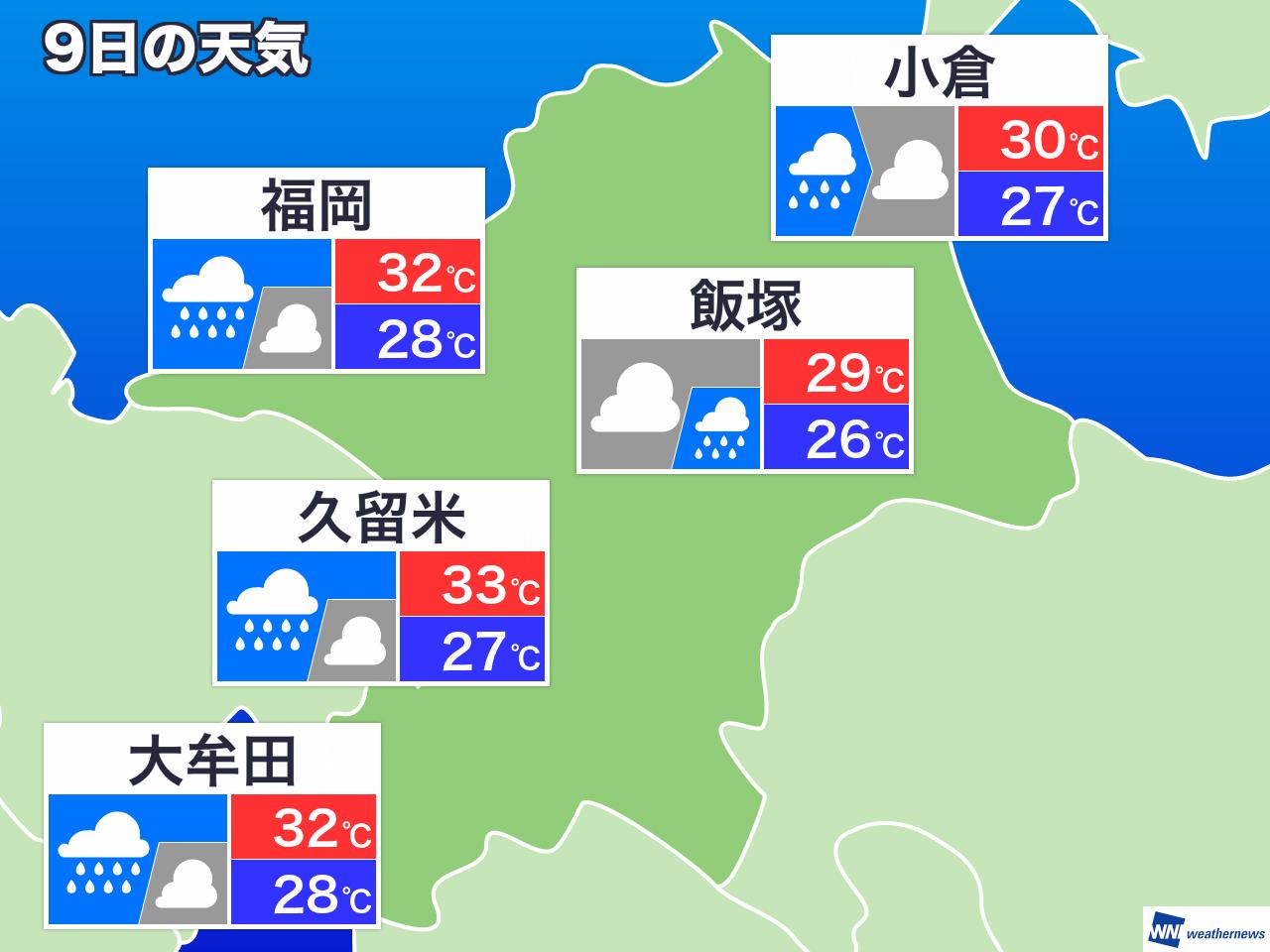 大牟田 週間 天気