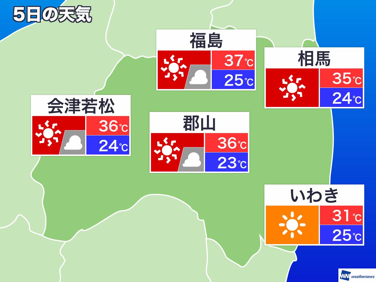 福島 市 天気 10 日間