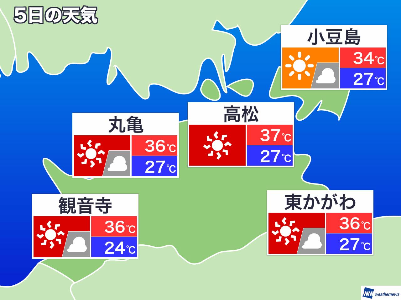 12月2日(月) 香川県の今日の天気 - ウェザーニュース