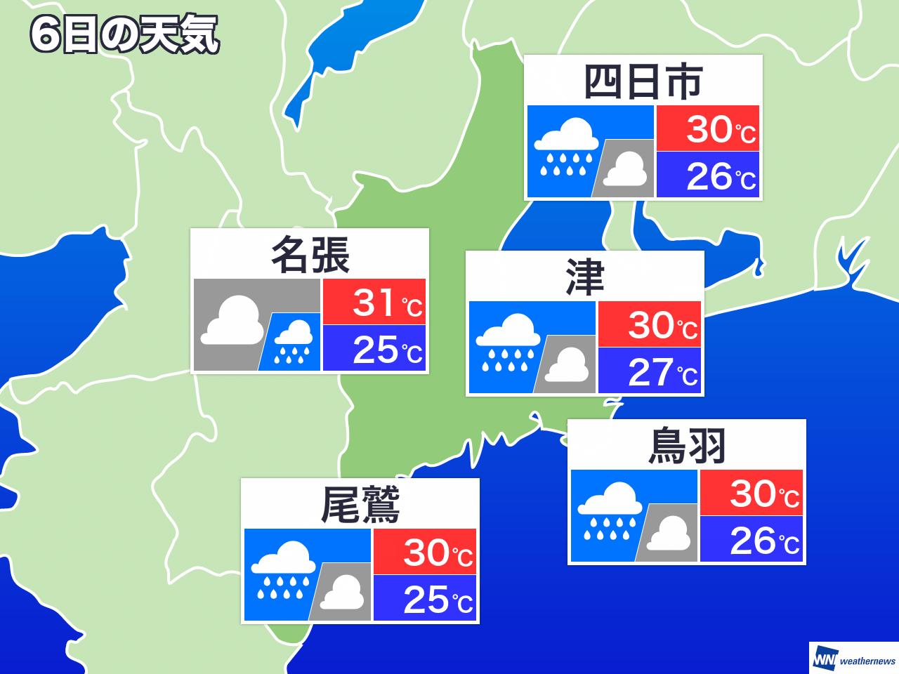 三重 県 名張 市 天気
