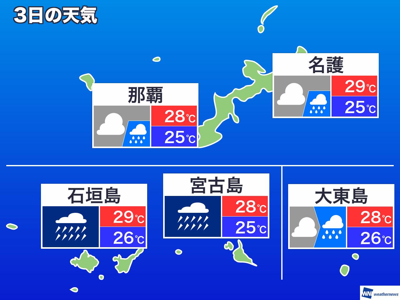 島 日間 天気 10 石垣