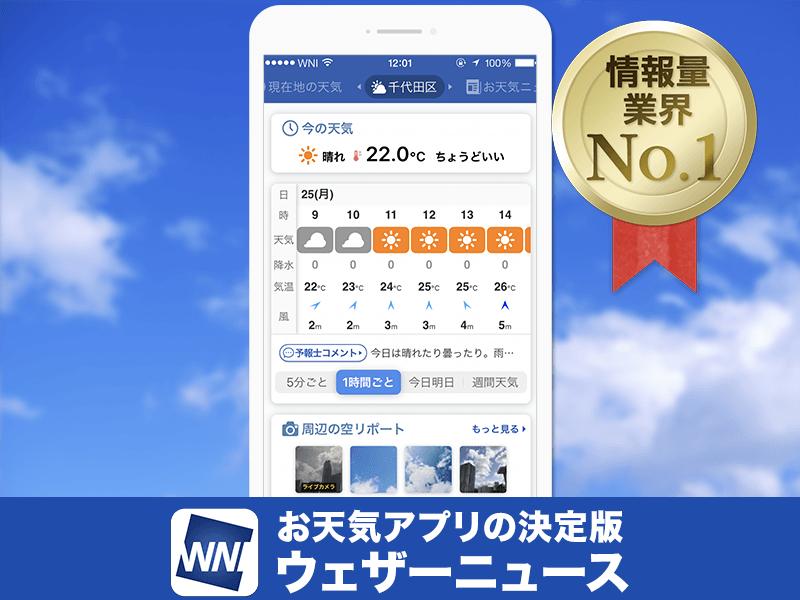 ウェザー ニュース 予報 天気