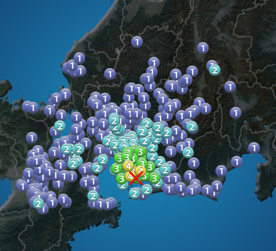 愛知 地震 今日