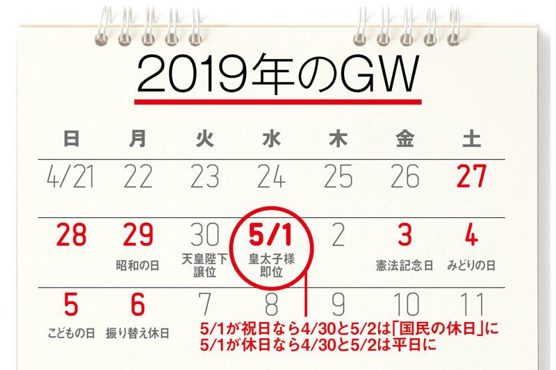 来年のGWは10連休!? 5月1日が「...