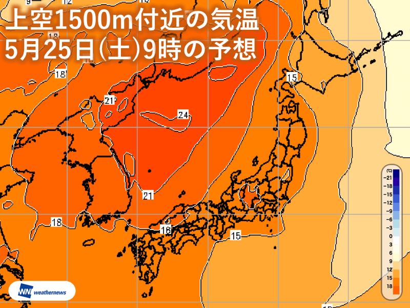 明日は真夏日400地点、猛暑日予...