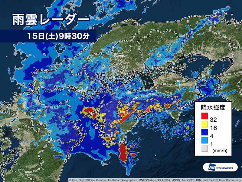 時間 24 レーダー 雨雲 福岡