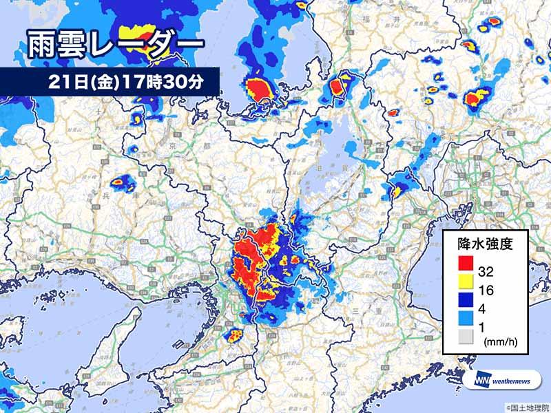 天気 レーダー 京都 雨雲