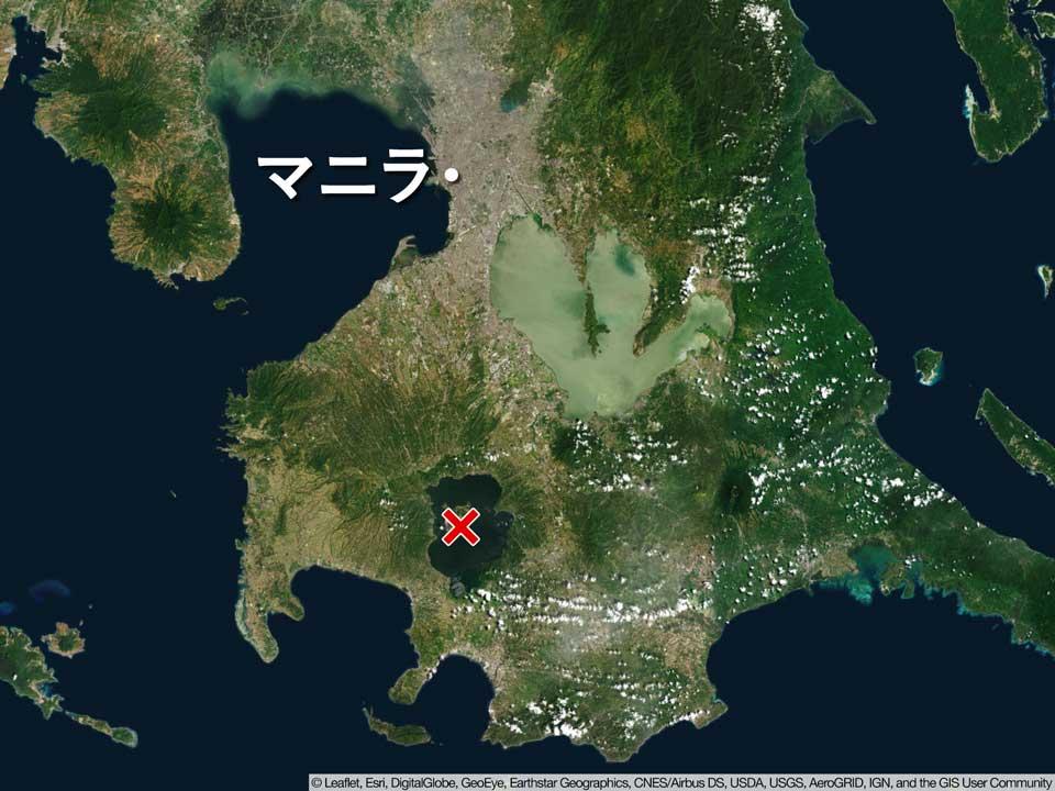 フィリピン マニラ近郊のタール火山で大きな噴火 噴煙は高度1万5000mに - ウェザーニュース