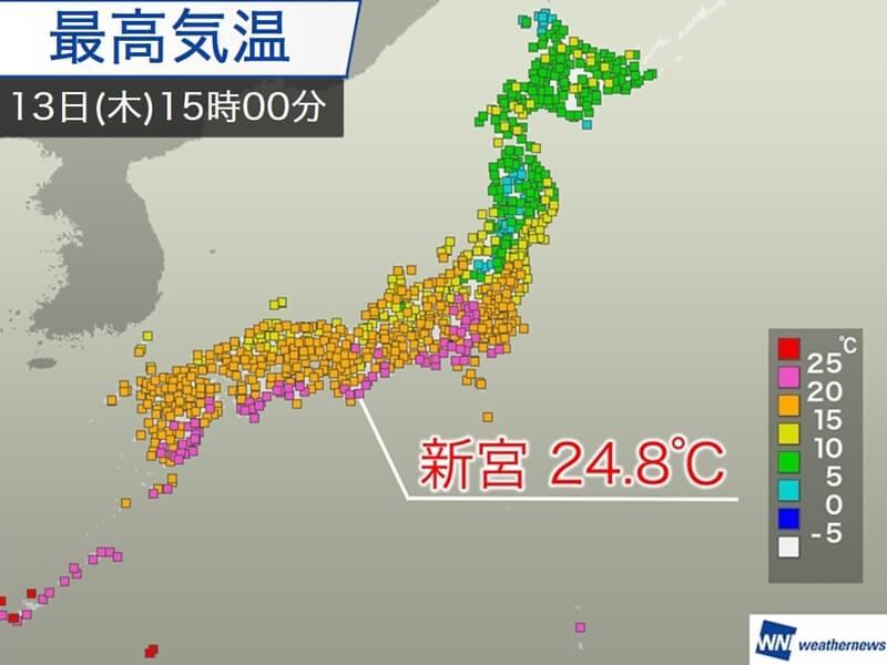 春を通り越して初夏の陽気 和歌山県で夏日目前の24.8℃ - ウェザーニュース