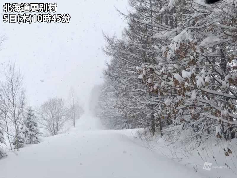 北海道で春のドカ雪 約半日で50cmの積雪増加 - ウェザーニュース