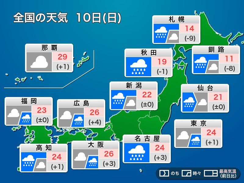 10 秋田 市 日間 天気