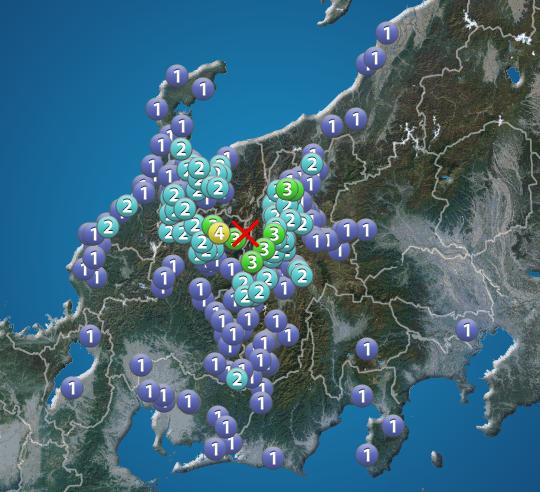 速報 岐阜 地震