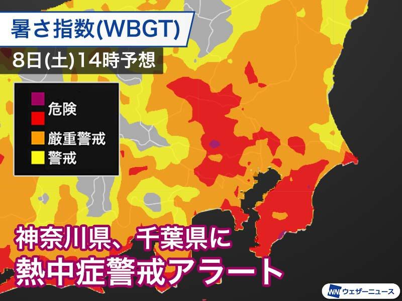 警戒 アラート 神奈川 熱中 症 【酷暑到来】8月13日:熱中症警戒アラートが出ている地域は 東京、神奈川、埼玉、千葉、茨城、栃木、群馬