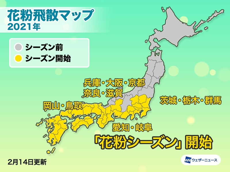 大阪 花粉