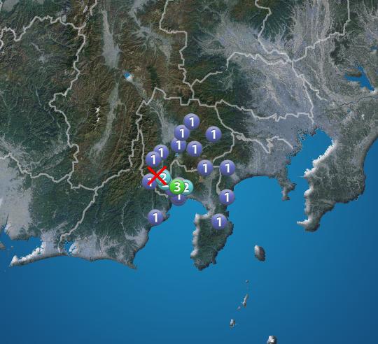 山梨 県 地震