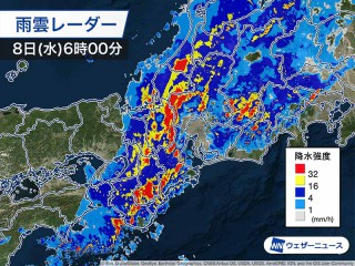 小金井市 雨雲レーダー