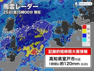 1 高知 時間 天気