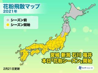 大阪 花粉 情報